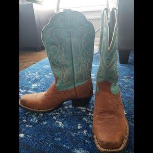 Arait Teal Boots